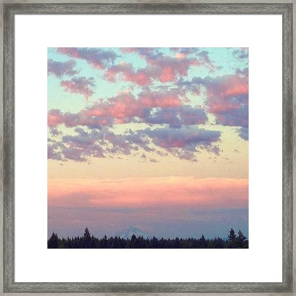Summer Evening Under A Cotton Framed Print