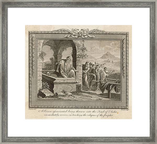 'a Person Assassinated, Being  Thrown Framed Print