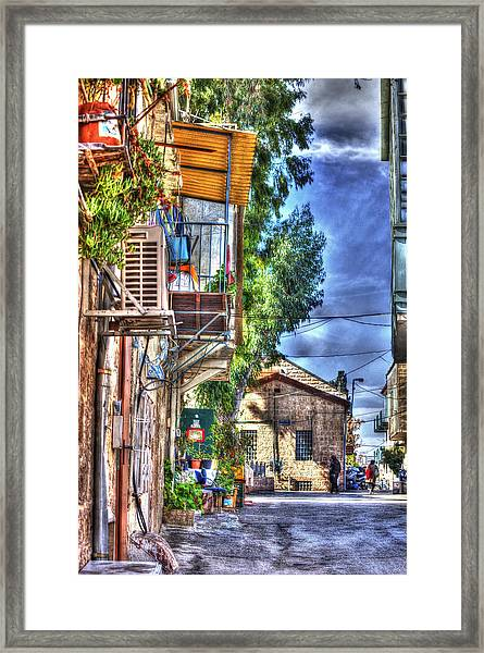 A Picturesque Street Framed Print