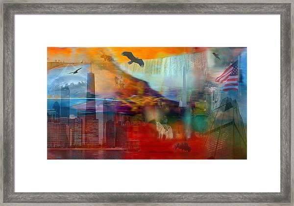 A Piece Of America Framed Print