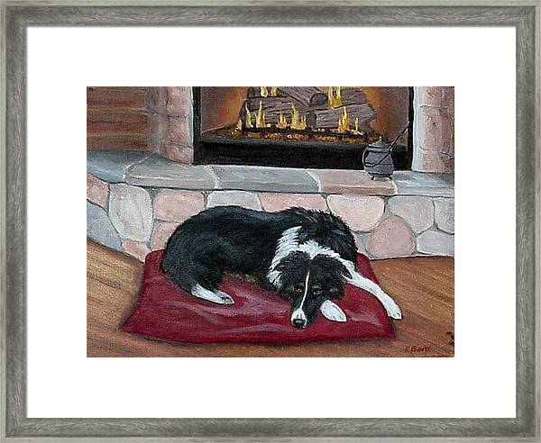 A Place By The Fire Framed Print
