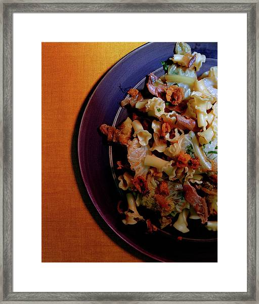 A Plate Of Pasta Framed Print