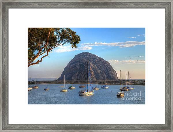 A Pleasant Day In Morro Bay Framed Print
