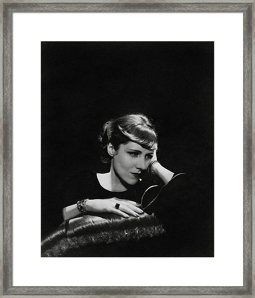 A Portrait Of Clare Boothe Luce Framed Print