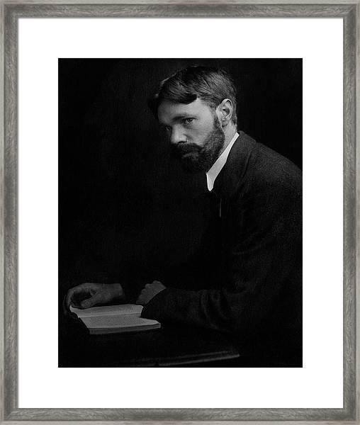 A Portrait Of D.h. Lawrence Framed Print
