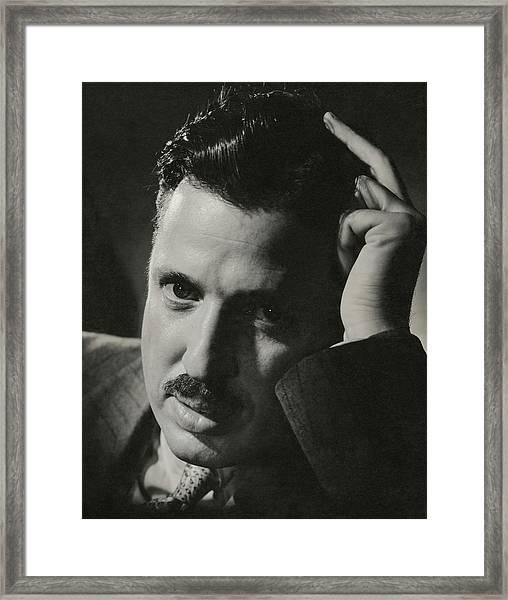 A Portrait Of Donald Deskey Framed Print by Anton Bruehl