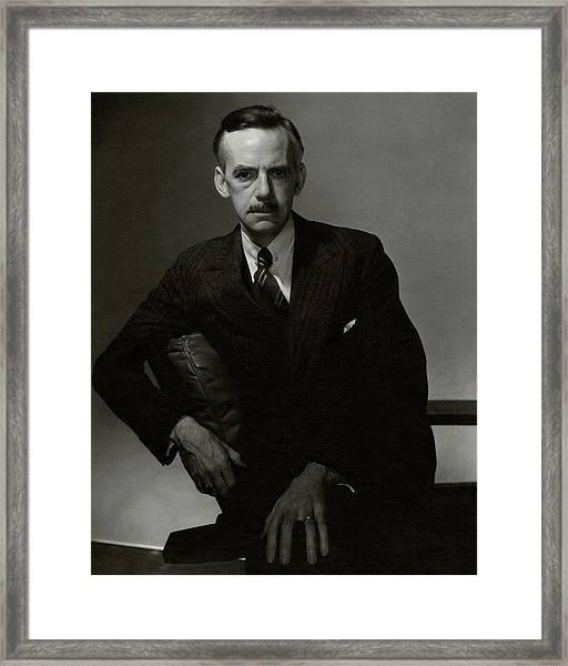 A Portrait Of Eugene O'neill Framed Print by Edward Steichen