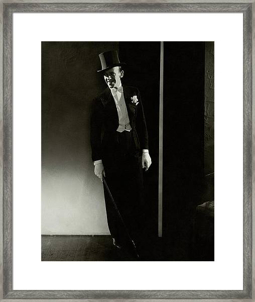 A Portrait Of Fred Astaire Framed Print