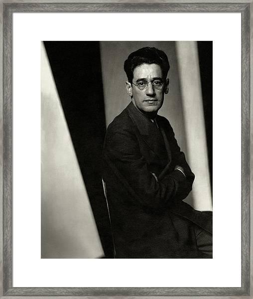 A Portrait Of George S. Kaufman Framed Print