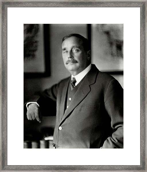 A Portrait Of H. G. Wells Framed Print
