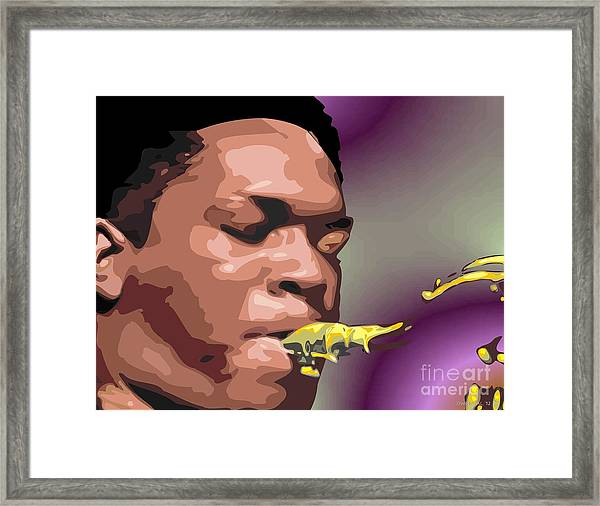 A Portrait Of John Coltrane Framed Print