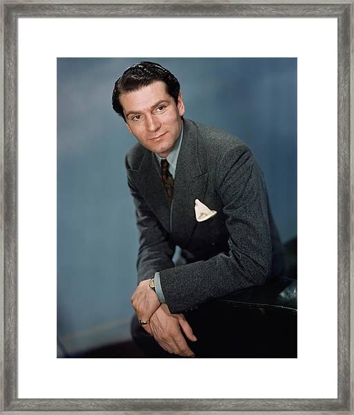 A Portrait Of Laurence Olivier Framed Print