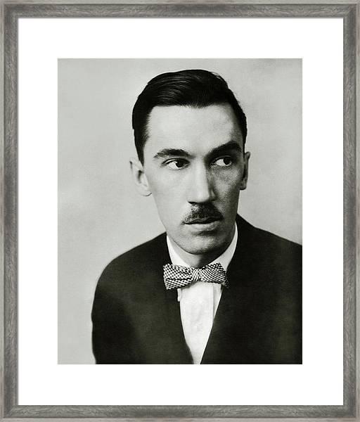 A Portrait Of Robert Sherwood Framed Print