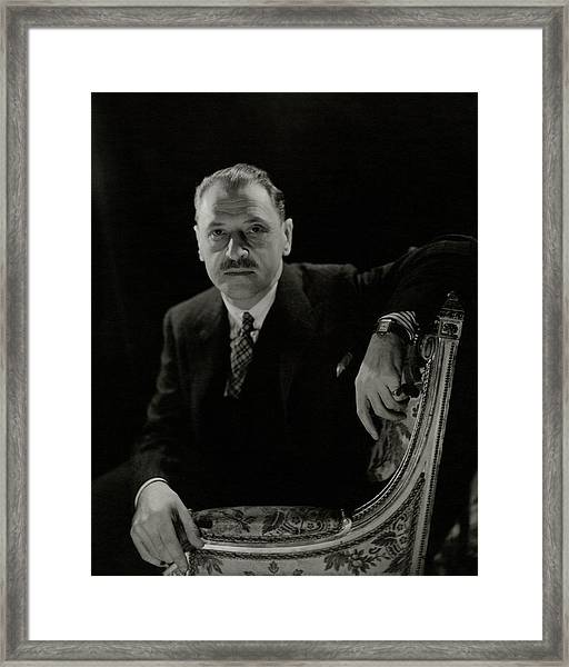 A Portrait Of Somerset Maugham Framed Print
