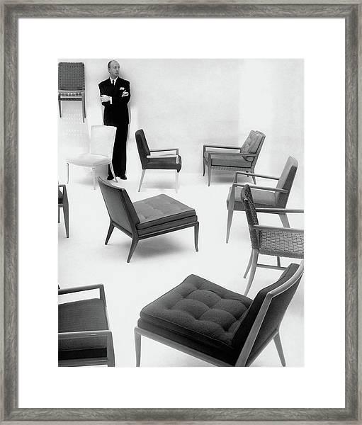 A Portrait Of T.h. Robsjohn-gibbings Framed Print by John Rawlings