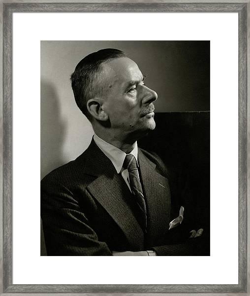 A Portrait Of Thomas Mann Framed Print by Edward Steichen