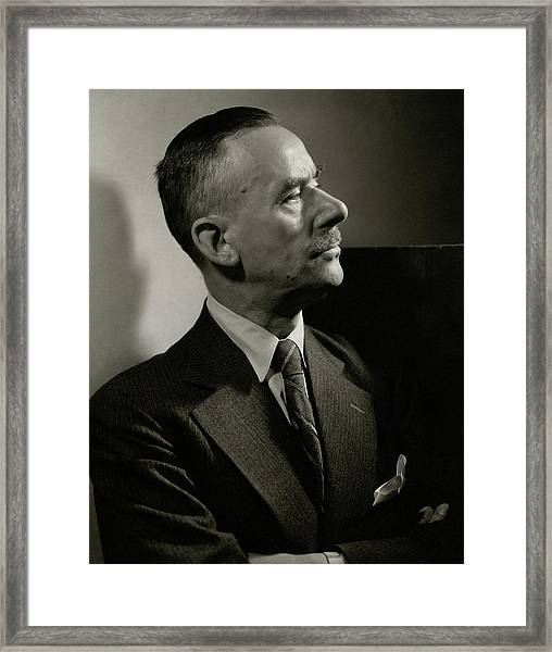 A Portrait Of Thomas Mann Framed Print