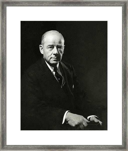 A Portrait Of Thomas W. Lamont Framed Print by Edward Steichen