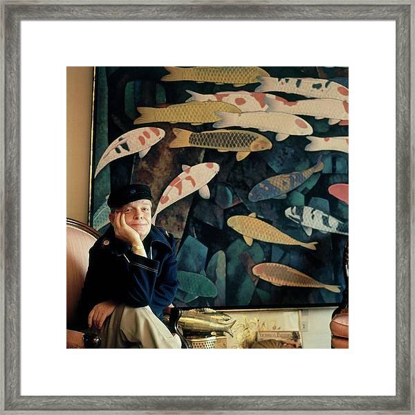 A Portrait Of Truman Capote Framed Print