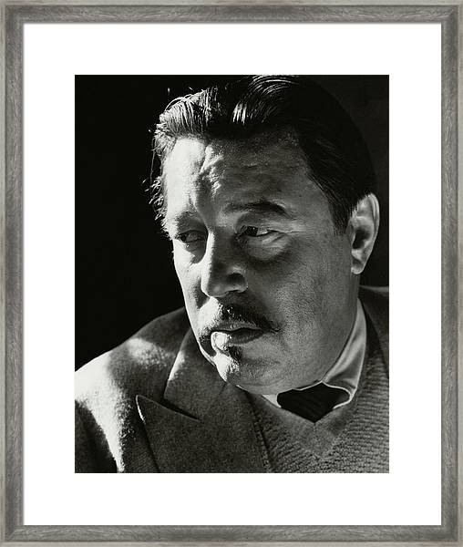 A Portrait Of Warner Oland Framed Print by Imogen Cunningham