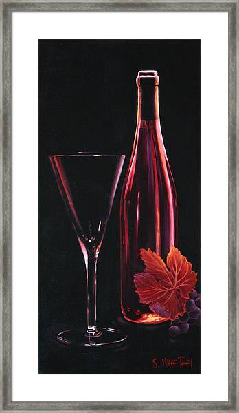 Framed Print featuring the painting A Prelude To Romance by Sandi Whetzel
