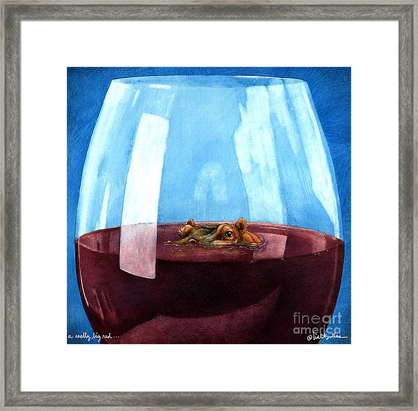 A Really Big Red... Framed Print
