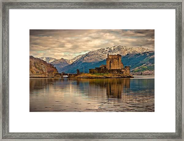 A Reflection At Eilean Donan Castle Framed Print