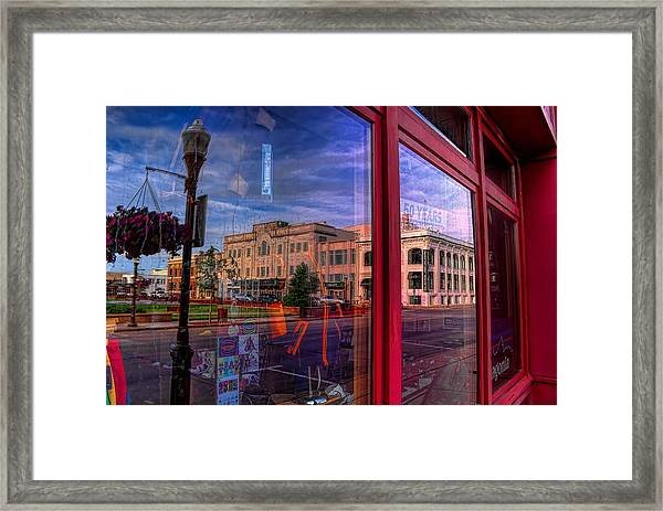 A Reflection Of Wausau's Grand Theater Framed Print