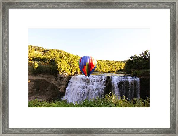 A Ride Over The Falls Framed Print