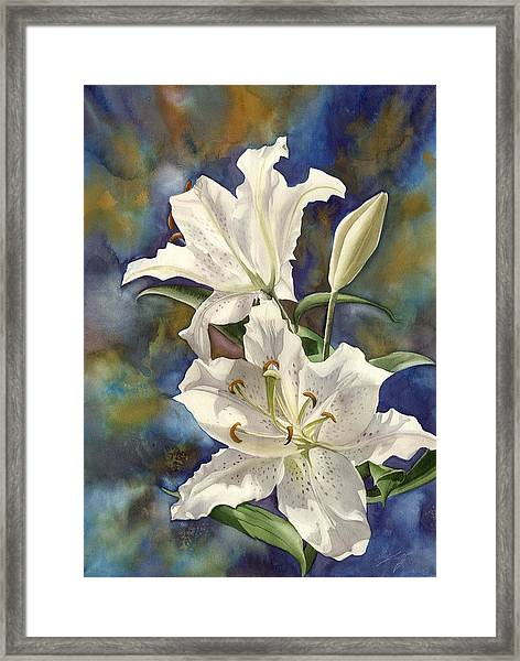 a Riot of Beauty Framed Print