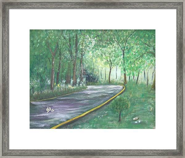 A Road Least Traveled Framed Print