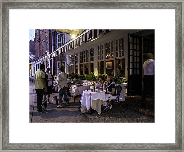 A Sag Harbor Night  Framed Print