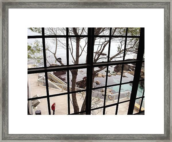A Scenery Through Windows Framed Print