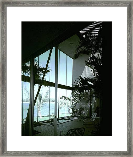 A Screened Patio Framed Print