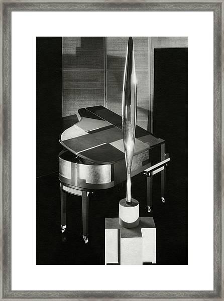 A Sculpture Called Bird In Flight Designed Framed Print by Edward Steichen