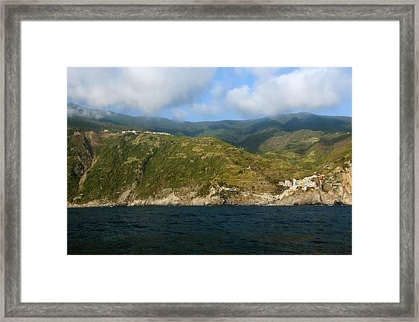 A Sea View Of Manarola Framed Print