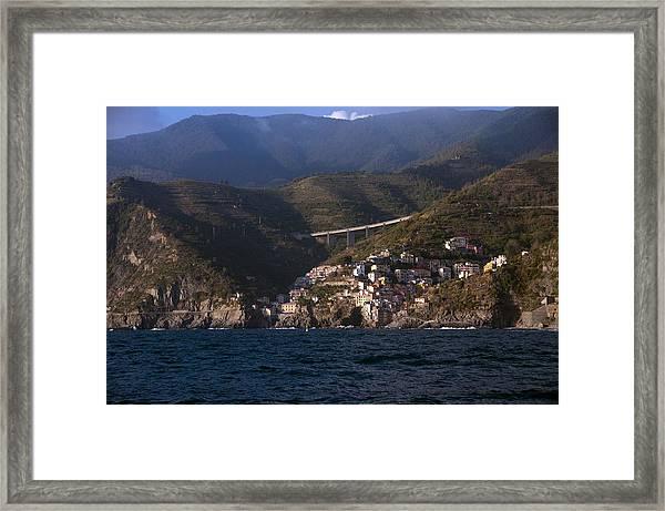 A Sea View Of Riomaggiore Framed Print