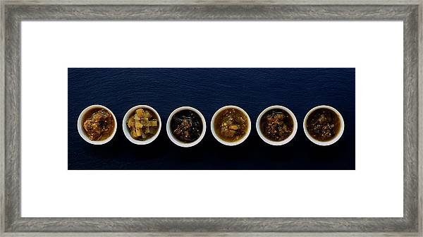A Selection Of Salsa Framed Print