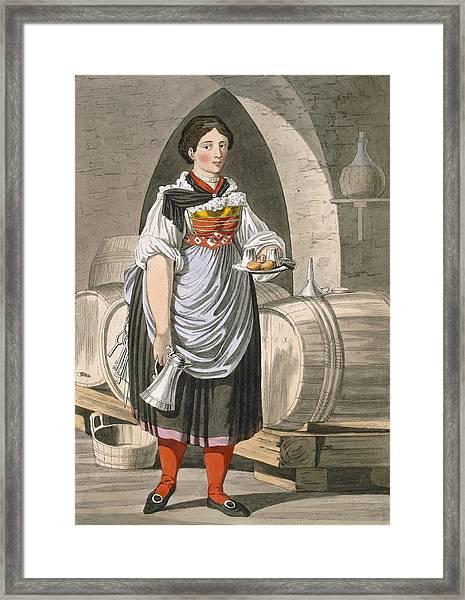 A Serving Girl At An Inn Framed Print