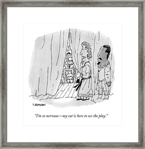 A Shakespearean Actress Says To Her Costar Framed Print