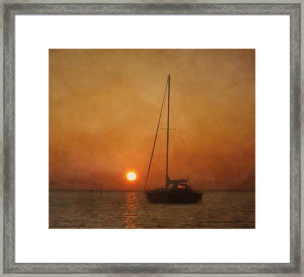 A Ship In The Night Framed Print
