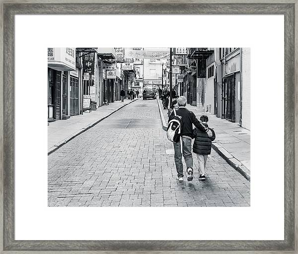 A Side Street In China Town Framed Print by Steve Stanger