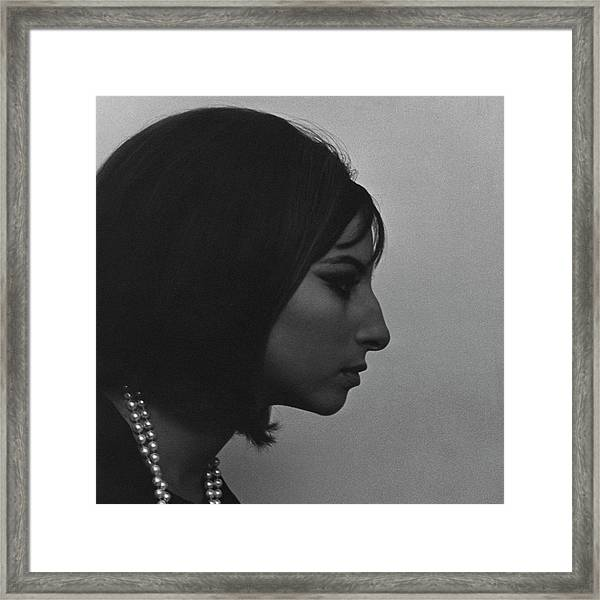 A Side View Of Barbra Streisand Framed Print by Cecil Beaton