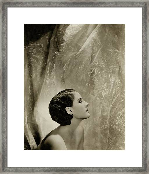 A Side View Of Norma Shearer Framed Print