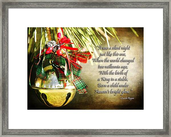 A Silent Night Like This One Framed Print