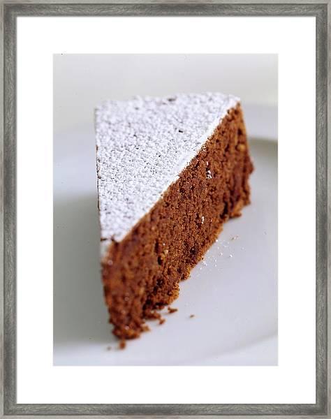 A Slice Of Chocolate Raspberry Ganache Cake Framed Print