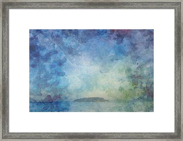 A Small Island Framed Print