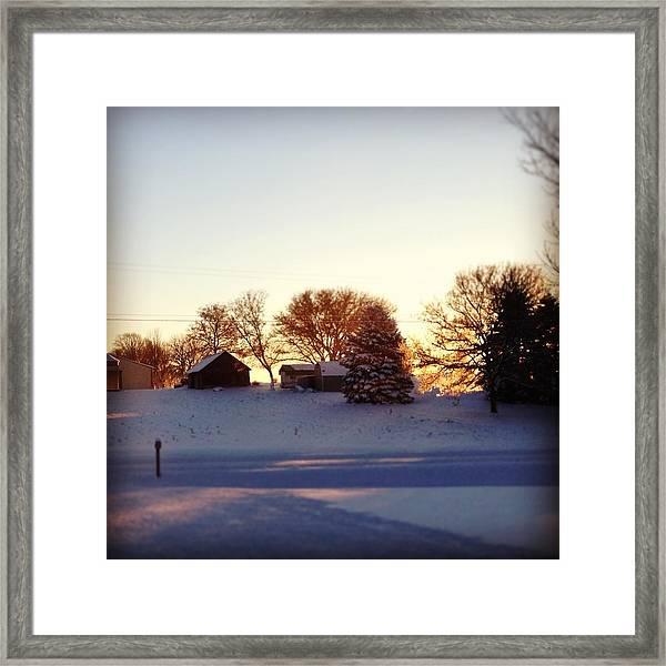 A Snowy Morning Framed Print