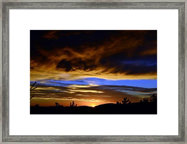 A Spectacular Sunrise Framed Print