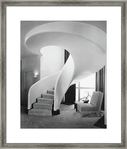 A Spiral Staircase Framed Print